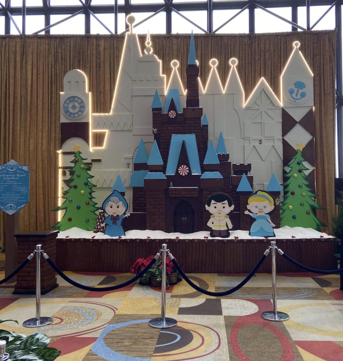 The Gingerbread Display is up at Disney's Contemporary Resort! #disneyholidays 1