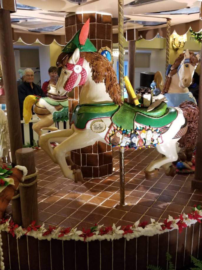 The Gingerbread Christmas Display at Disney's Beach Club Resort! 5