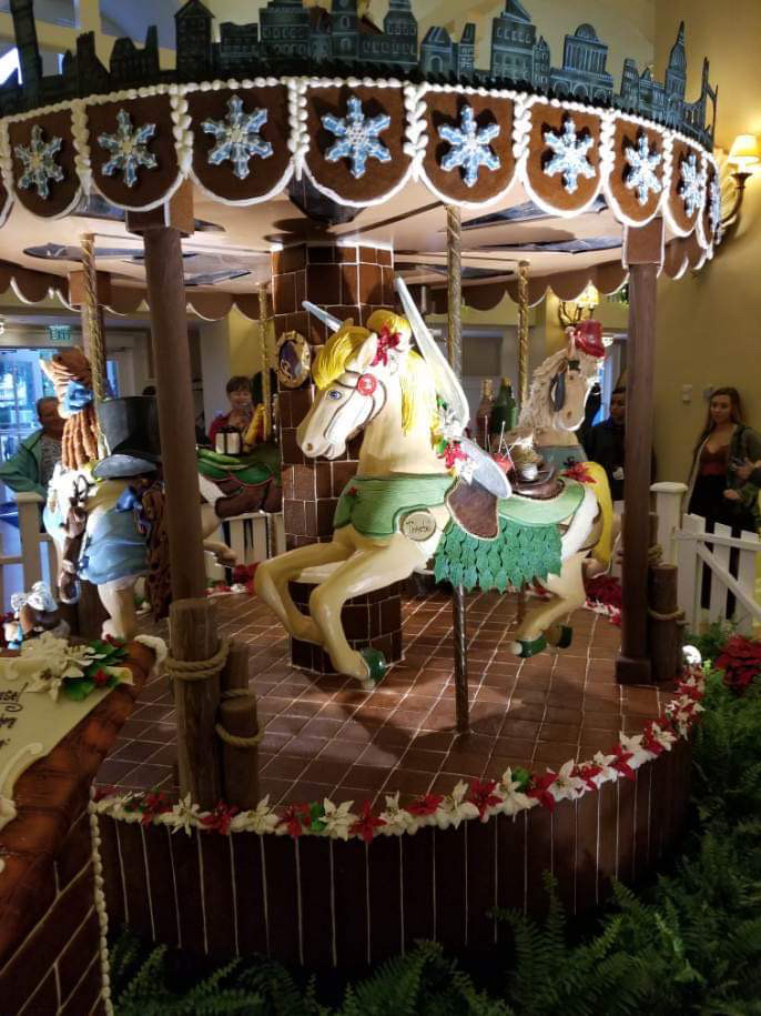 The Gingerbread Christmas Display at Disney's Beach Club Resort! 4