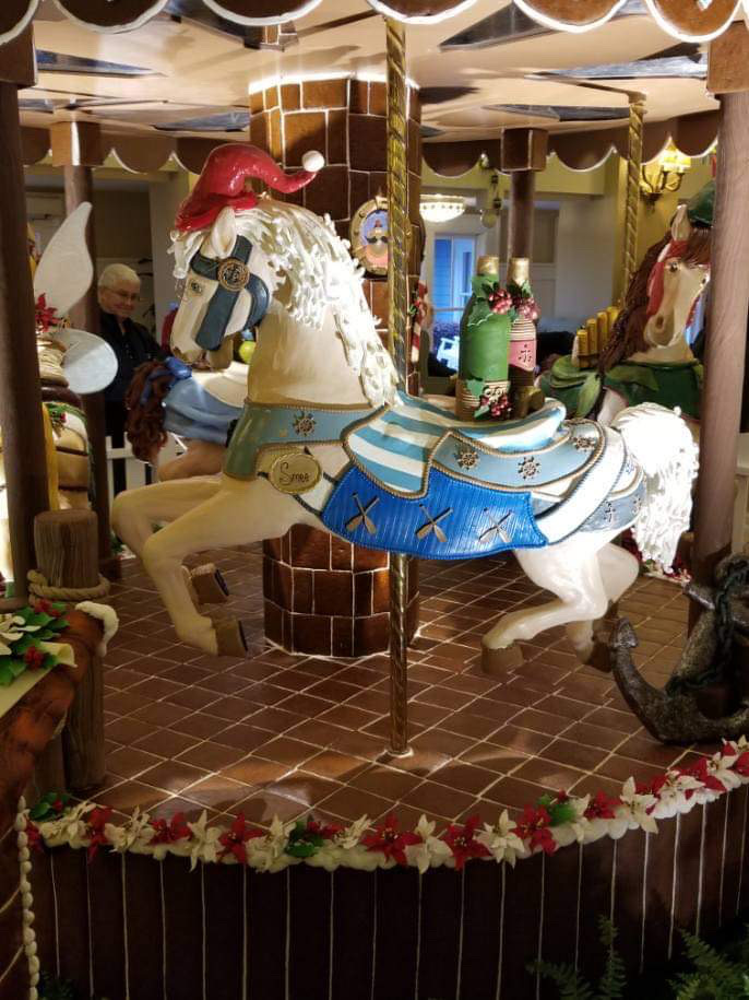 The Gingerbread Christmas Display at Disney's Beach Club Resort! 6