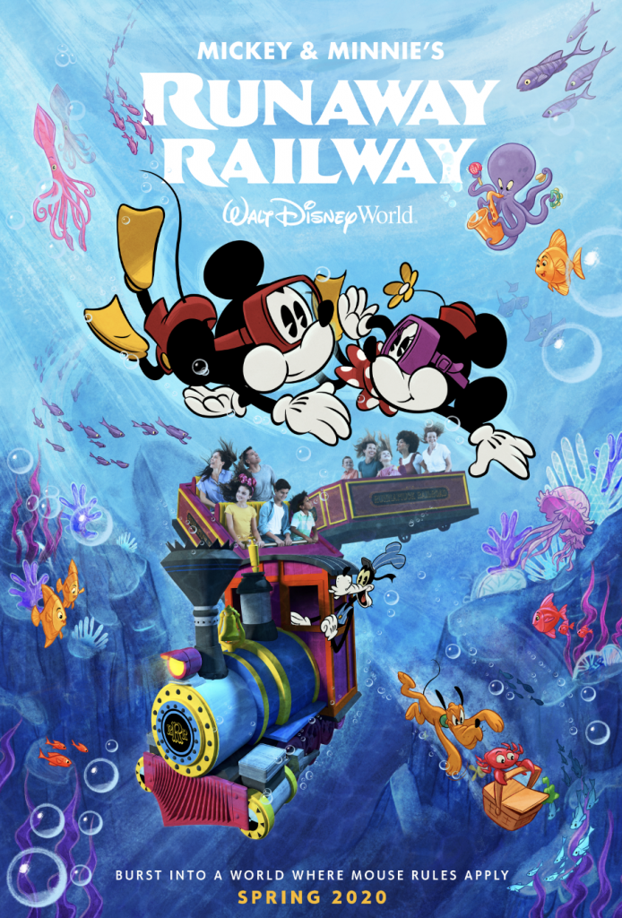 New Poster Unveiled for Mickey & Minnie's Runaway Railway Attraction at Disney's Hollywood Studios 1