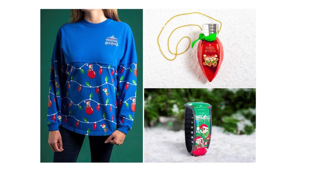 New 2019 Epcot Festival of the Holidays Merchandise Featuring Chip 'n' Dale Available on November 29 28
