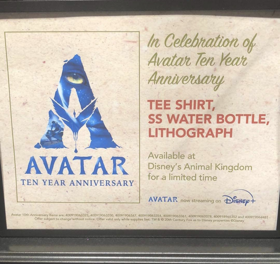 New Avatar 10 Year Anniversary Merch at Animal Kingdom 1