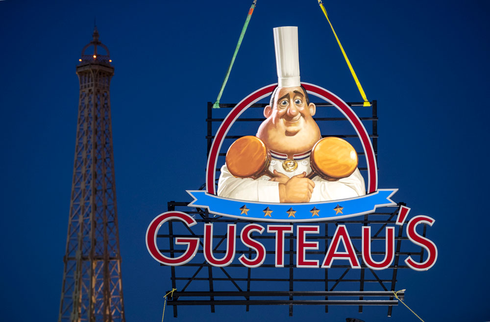 First Look! New Sign for Gusteau's Restaurant, Just Installed in the France Pavilion at Epcot 1