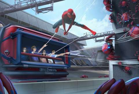 Spider-Man Swings into Action Above Avengers Campus at Disney California Adventure Park 1