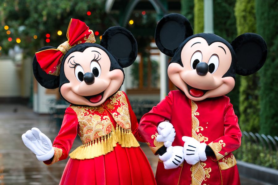 Mickey Mouse and Minnie Mouse Kick Off Lunar New Year in Designer Outfits at Disney California Adventure Park and Shanghai Disneyland 5