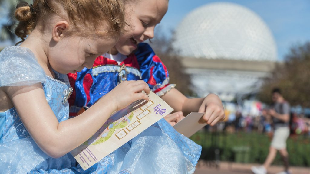 Kids playing Figment's Brush with the Masters Scavenger Hunt