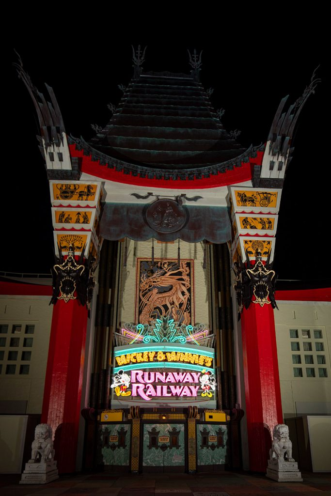 First Look! New Marquee for Mickey & Minnie's Runaway Railway Lights Up Disney's Hollywood Studios 27