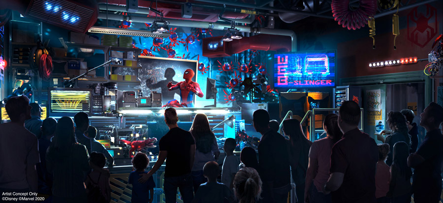 Avengers Campus at Disneyland Resort Introduces WEB SLINGERS: A Spider-Man Adventure, a New Attraction for Guests of All Ages to Discover Their Web-Slinging Super Powers 5