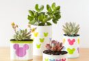 DIY Tin Can Mickey Mouse Planters