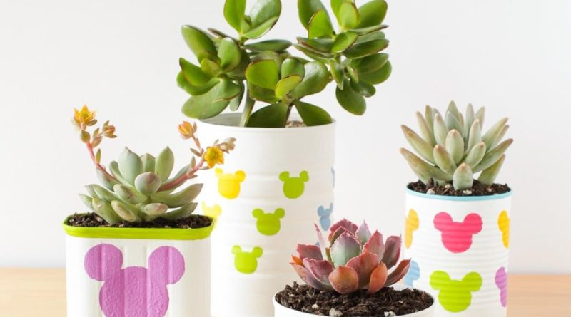 DIY Tin Can Mickey Mouse Planters 5