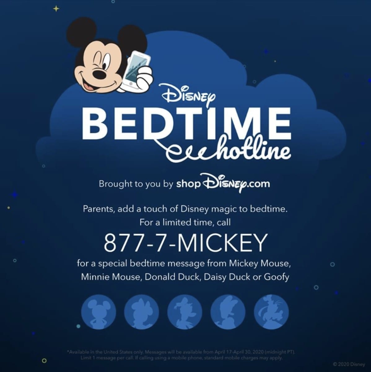 Disney Bedtime Hotline, Brought to You by shopDisney.com, Returns for a Limited Time 2