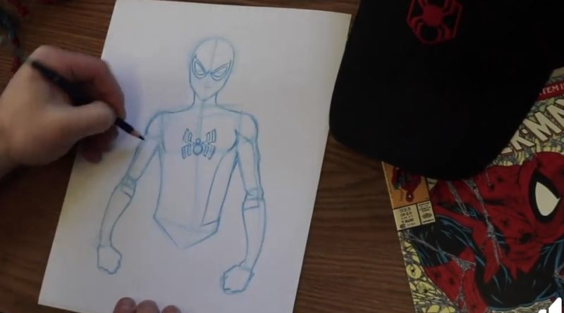 #DisneyMagicMoments: Learn to Draw Spider-Man at Home in Honor of National Super Hero Day 16