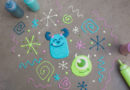 How to Make Your Own Mike & Sulley Sidewalk Art 6