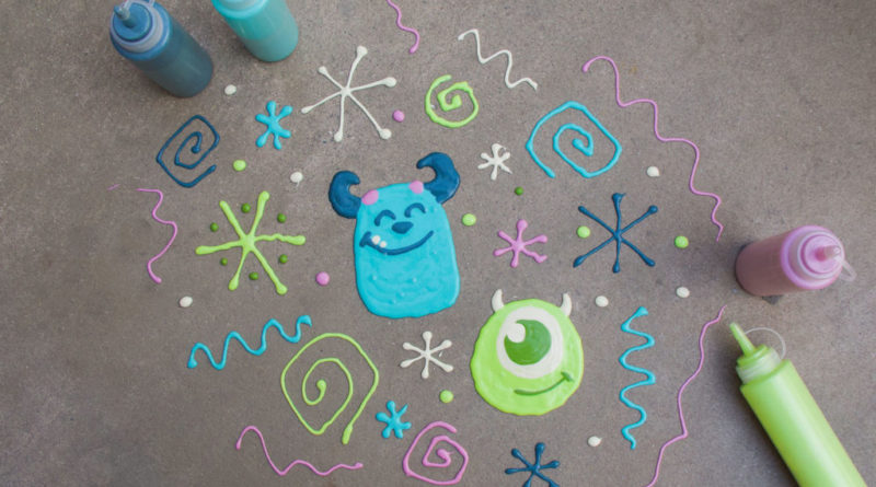 How to Make Your Own Mike & Sulley Sidewalk Art 8
