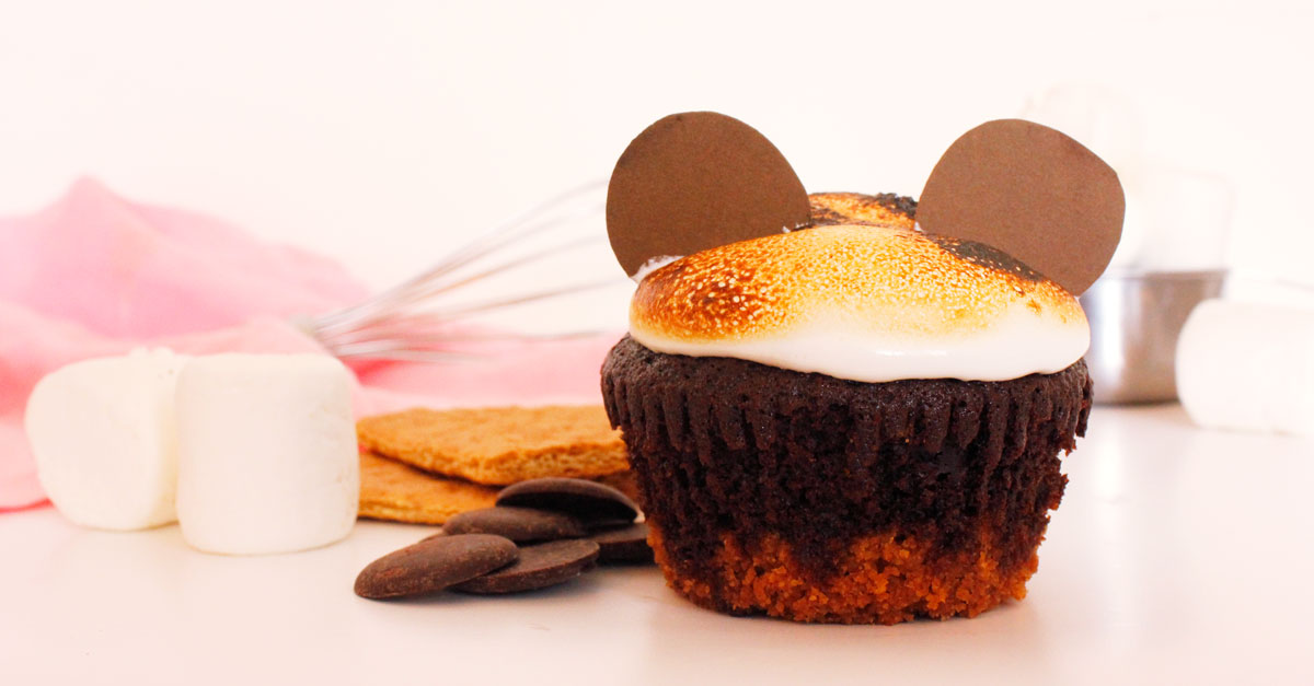 Make Your Own Mickey S'mores Cupcakes! #disneymagicmoments 1