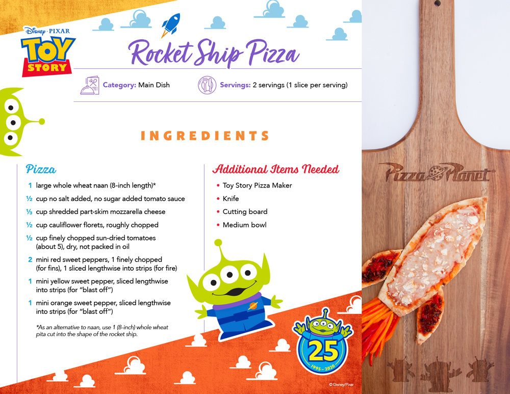 Celebrate Toy Story's 25th Anniversary with these Fun Pizza Recipes for National Pizza Party Day on 5/15 2