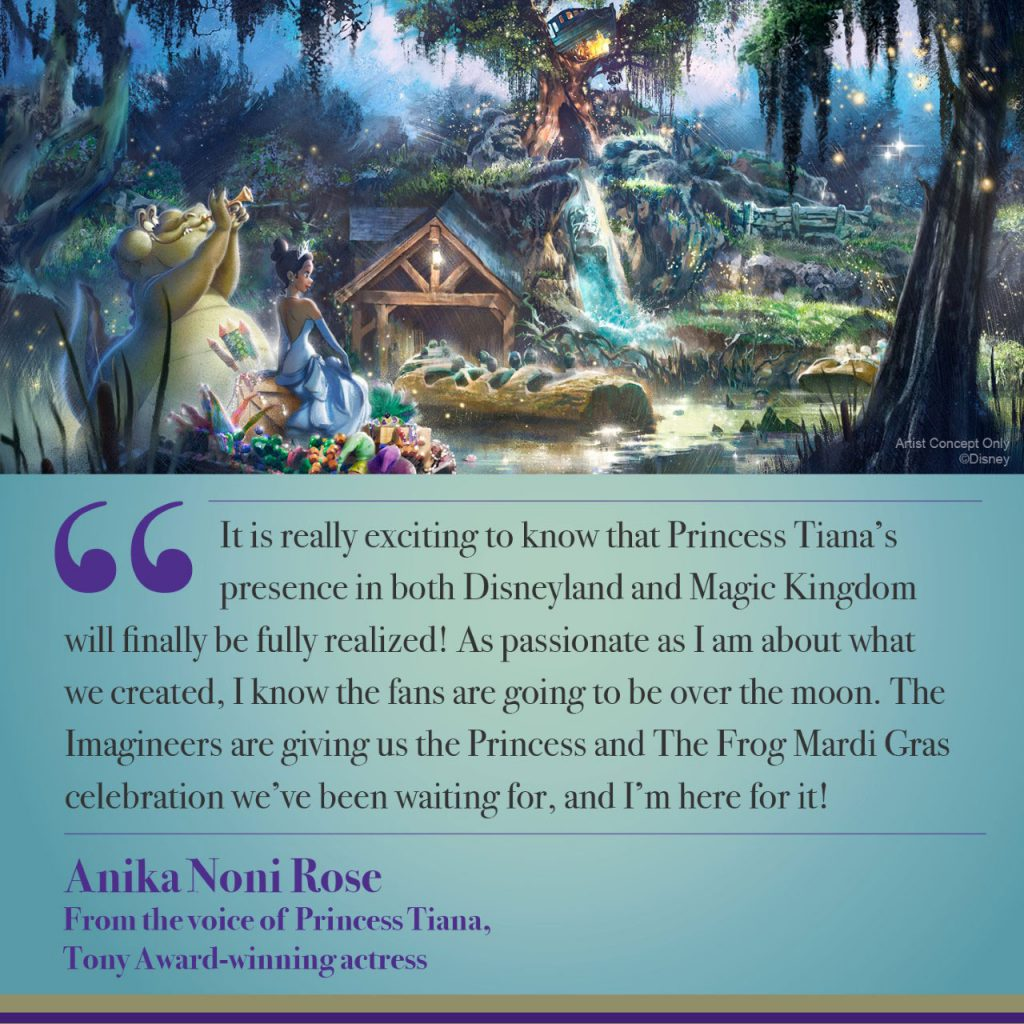 New Adventures with Princess Tiana Coming to Disneyland Park and Magic Kingdom Park 2