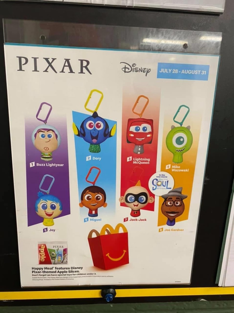 McDonald's Happy Meals Featuring Pixar Characters! 2