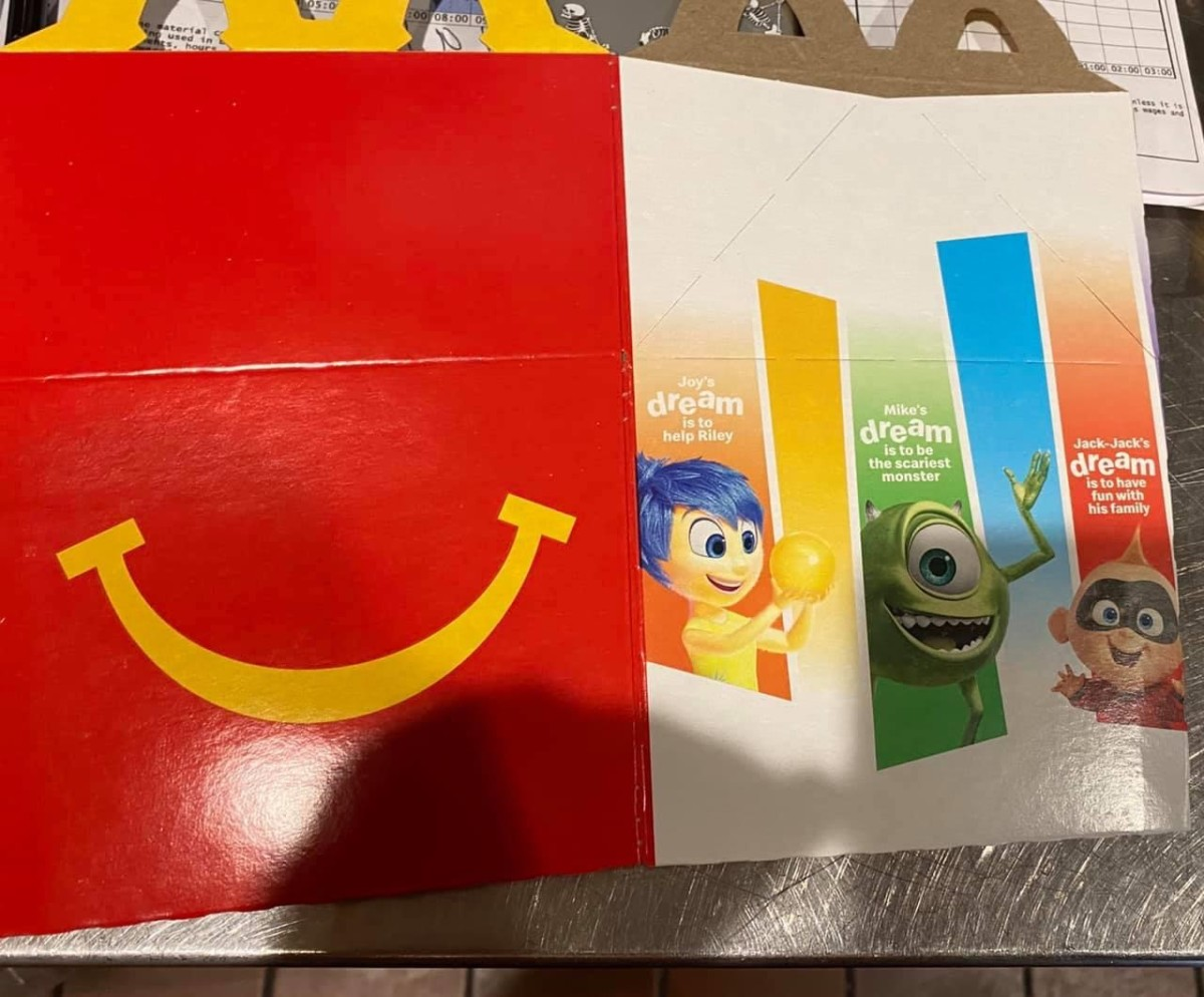 McDonald's Happy Meals Featuring Pixar Characters! 4