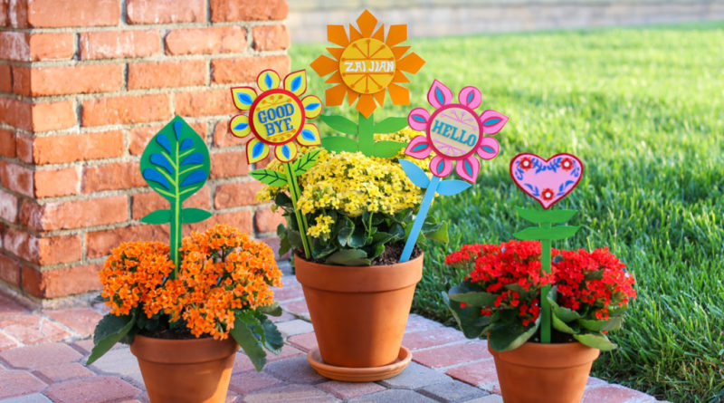 "DIY Flower Pot Stakes Inspired by ""it's a small world"" 1"