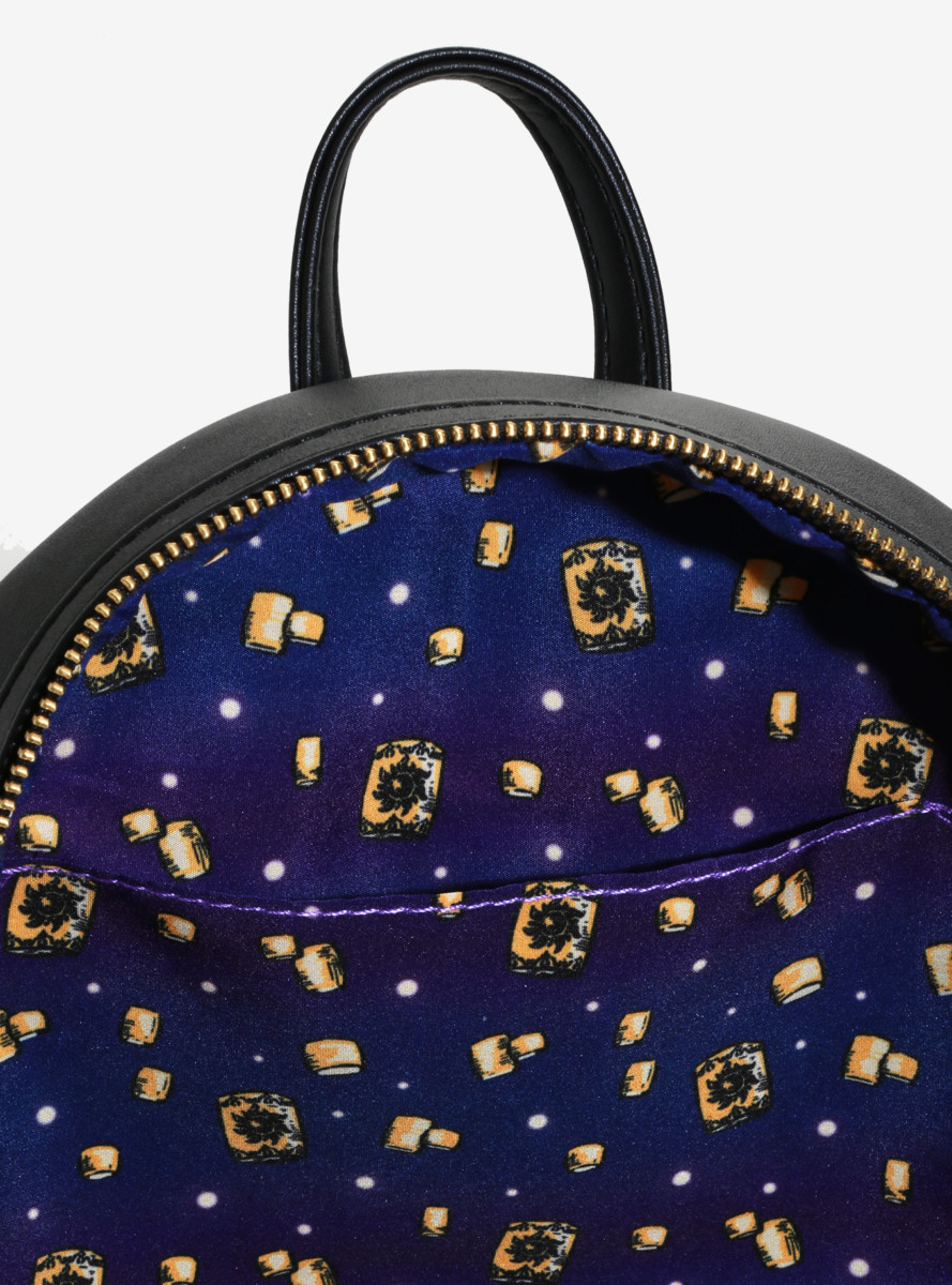 New Tangled Themed Loungefly Backpack Lights Up Like Lanterns In The Film