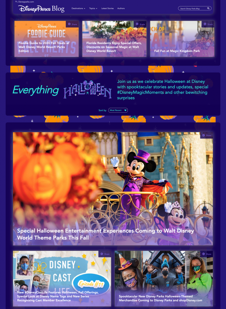 "Special ""Everything Halloween"" Page on the Disney Parks Blog"
