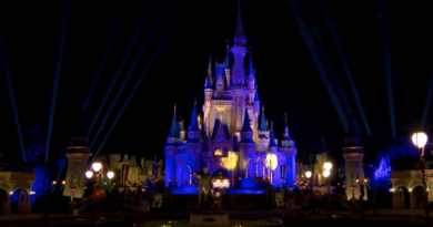 Walt Disney World Resort Lights Cinderella Castle to Celebrate NBA Champion Los Angeles Lakers 3