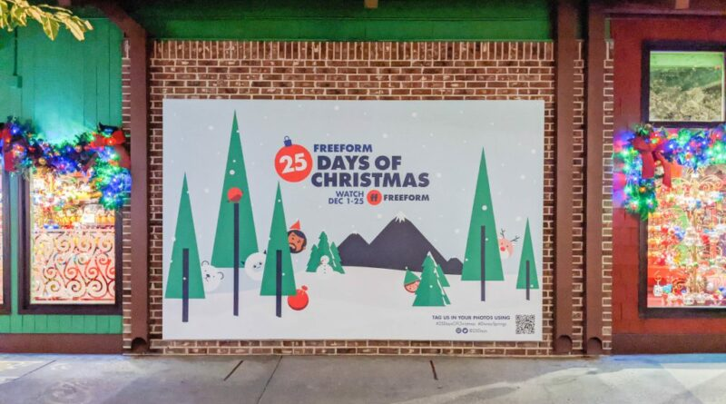Freeform Brings Holiday Cheer to Disney Springs with a '25 Days of Christmas' Photo Wall 11